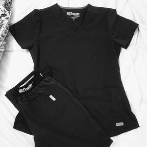 Grey's Anatomy Scrub Set/Charcoal Gray